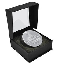 Washington Capitals 2018 Stanley Cup Champions Silver 3D Statue Puck in Collectors Display Box