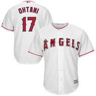 Shohei Ohtani Los Angeles Angels #17 White Home Youth Cool Base Replica Jersey