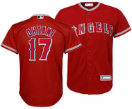 Shohei Ohtani Los Angeles Angels #17 MLB Youth Alternate Red Jersey