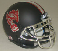 North Carolina NC State Wolfpack Alternate Matte Black Schutt Mini Authentic Helmet