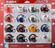 Riddell Ncaa Pocket Pro Helmets, SEC Conference Set, (2018) NEW