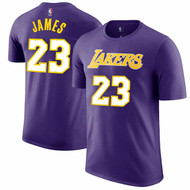 LeBron James Los Angeles Lakers #23 Purple NBA Youth Name & Number T-shirt