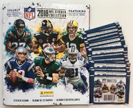 2018 Panini NFL Football Sticker Collection Combo 1 Sticker Album plus 20 Packs (100 Stickers)