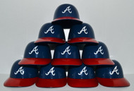 Atlanta Braves MLB 8oz Snack Size / Ice Cream Mini Baseball Helmets - Quantity 10