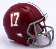 Alabama Crimson Tide #17 Revolution Mini Pocket Pro Helmet