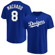 Manny Machado Los Angeles Dodgers Majestic Official Name & Number Men's Big & Tall T-Shirt