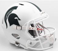 Michigan State Spartans WHITE SPEED Riddell Full Size Replica Helmet