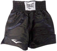 Standard Boxing Trunks - 21 inch (All Black) - XL