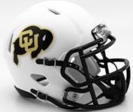 Colorado Buffaloes Alternate Matte White Revolution SPEED Mini Helmet