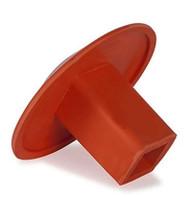 Rubber Ground Receptacle Anchor Base Plug - Orange