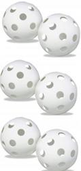 Plastic Baseballs Wiffleballs Hollow Balls for Wiffle Practice - White (6 pack)