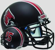 Ball State Cardinals Matte Black Schutt Mini Authentic Helmet