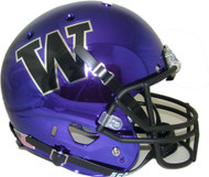 Washington Huskies Alternate Purple Chrome Schutt Full Size Replica Helmet