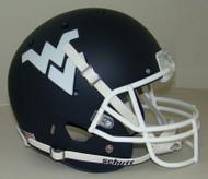 West Virginia Mountaineers Schutt Alternate Matte Navy Full Size Replica Helmet