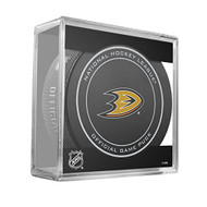 Anaheim Ducks Sher-Wood Inglasco NHL 100th Anniversary Official Hockey Puck in Cube