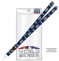 2018 World Series MLB Detachable Lanyard, Pin, & Ticket Holder Set