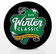 2019 Winter Classic NHL Inglasco Souvenir Puck - Notre Dame Stadium