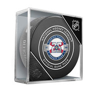 Florida Panthers Inglasco 25th Anniversary Official Hockey Puck in Cube