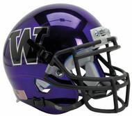 Washington Huskies Alternate Purple Chrome Schutt Mini Authentic Football Helmet