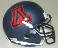 Arizona Wildcats Alternate Black Matte Hard Edge Schutt Mini Authentic Helmet