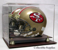 DELUXE FULL SIZE FOOTBALL HELMET LEATHER DISPLAY