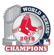 2018 Boston Red Sox World Series Champions Trophy Lapel Pin