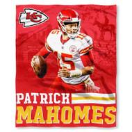 "NFL Patrick Mahomes Kansas City Chiefs Silk Touch Throw Blanket Size 50"" x 60"""
