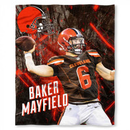"""NFL Baker Mayfield Cleveland Browns Silk Touch Throw Blanket Size 50"""" x 60"""""""