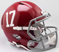 Alabama Crimson Tide #17 SPEED Riddell Full Size Replica Football Helmet