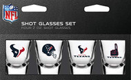 Houston Texans Shot Glass 2oz 4 Pack