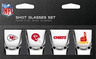 Kansas City Chiefs Shot Glass 2oz 4 Pack