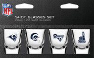 Los Angeles Rams Shot Glass 2oz 4 Pack