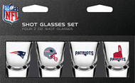 New England Patriots Shot Glass 2oz 4 Pack