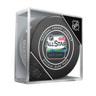 2019 NHL All-Star Game Official Hockey Puck in Cube (San Jose)