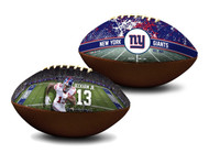 Odell Beckham Jr. New York Giants NFL Full Size Official Licensed Premium Football