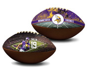 Adam Thielen Minnesota Vikings NFL Full Size Official Licensed Premium Football