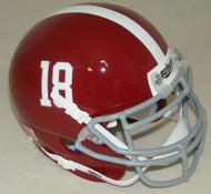 Alabama Crimson Tide #18 Schutt Mini Authentic Football Helmet