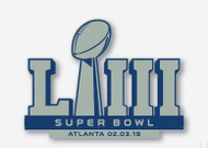 Super Bowl LIII (53) Commemorative Lapel Pin - Atlanta 02.03.19