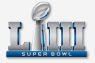 "2019 Super Bowl LIII (53) 2"" Logo Pin on Pin"
