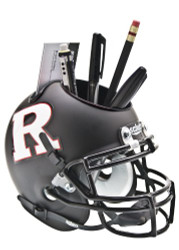 Rutgers Scarlet Knights Alternate Black / White Mini Helmet Desk Caddy by Schutt