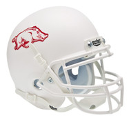 Arkansas Razorbacks Alternate White Schutt Mini Authentic Helmet