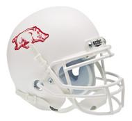 Arkansas Razorbacks Alternate White Schutt Mini Authentic Helmet
