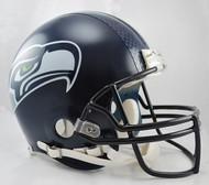 Seattle Seahawks Matte Navy Riddell Full Size Authentic Proline Helmet