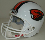 Oregon State Beavers White 2013 Riddell Full Size Replica Helmet