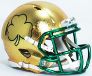 Notre Dame Fighting Irish Special Shamrock NCAA Riddell Speed Hydrofx Mini Helmet