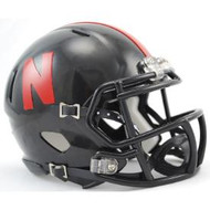 Nebraska Cornhuskers (BLACK) Revolution SPEED Mini Helmet