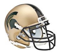 Michigan State Spartans Alternate Gold Combat Schutt Mini Authentic Helmet