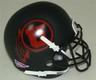 Utah Utes Alternate Black Matte (Red Logo) Schutt Mini Authentic Helmet