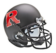 Rutgers Scarlet Knights Black Matte with Red Logo Schutt Mini Authentic Helmet