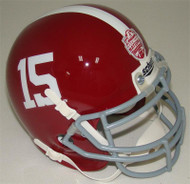 Alabama Crimson Tide 2012 BCS Champions #15 Schutt Mini Authentic Helmet